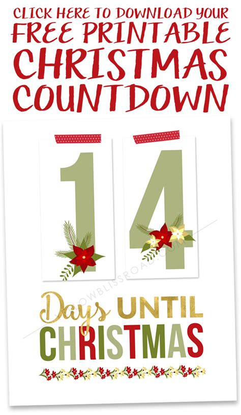 printable christmas countdown free printable christmas countdown yellow bliss road