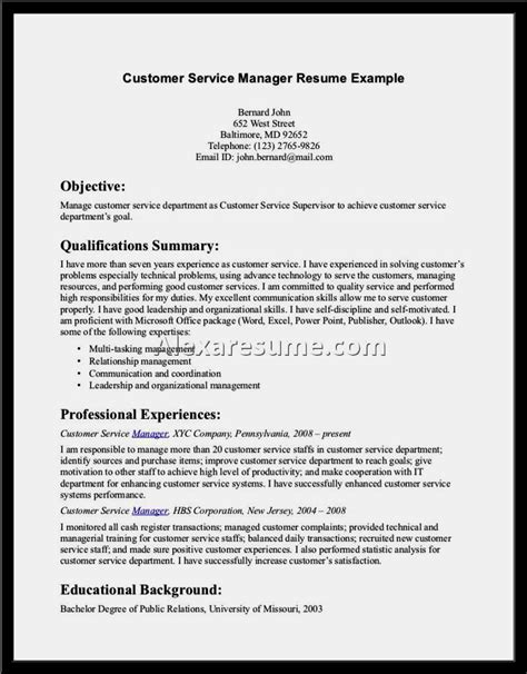 Great Resumes For Customer Service by Exles Of Great Customer Service Resume Resume