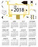 Kalendarz 2018 Daty świąt Prosty Kalendarz Dla 2018 Rok Ilustracji Obraz 78360093