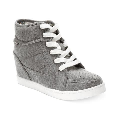 grey sneaker wedges wedge sneakers in gray lyst