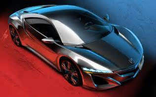 How Much Is The Acura Nsx 2015 2015 Acura Nsx Sketch Photo 1