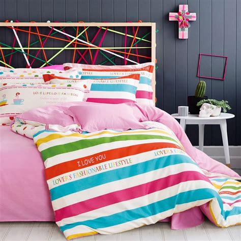 real cotton sheets high quality rainbow comforter set buy cheap rainbow