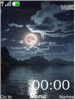 themes dark clock download dark night clock nokia theme mobile toones
