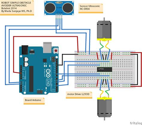 membuat robot avoider robot obstacle avoider ultrasonic hc sr04 arduino robot