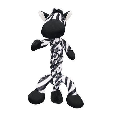 kong braidz zebra dog toy