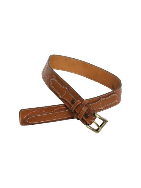 vintage 1970 s belt 70s vogt mens leather western