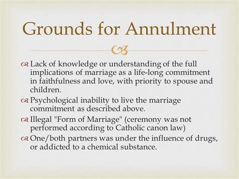 Grounds for annulment of marriage in michigan