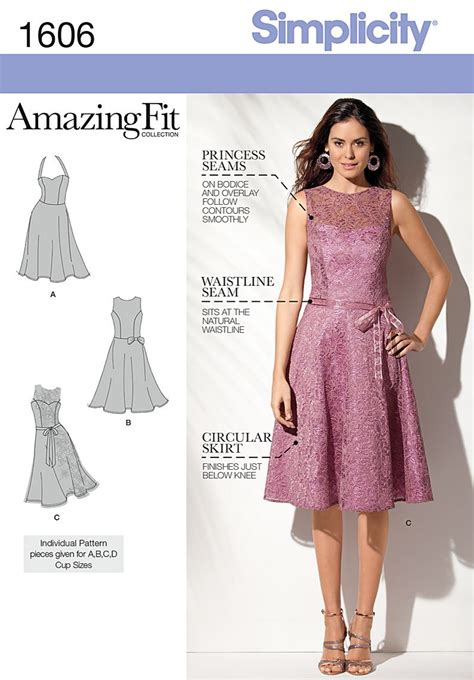 pattern dress online simplicity 1606 misses and petite dress sewing pattern