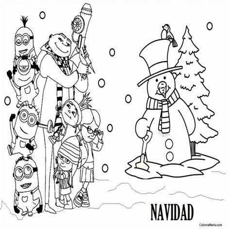imagenes de navidad para colorear de los minions colorear minions en navidad minions dibujo para colorear