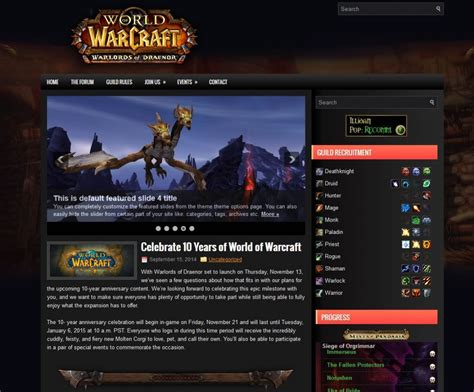 world of warcraft warlords zero theme of the month