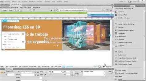 tutorial de dreamweaver en pdf ejemplo de dreamweaver cc 2015 creamos una galeria o pase