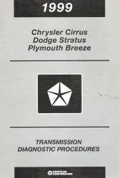 auto repair manual online 1999 chrysler cirrus head up display 1999 chrysler cirrus dodge stratus plymouth breeze transmission diagnostic procedures