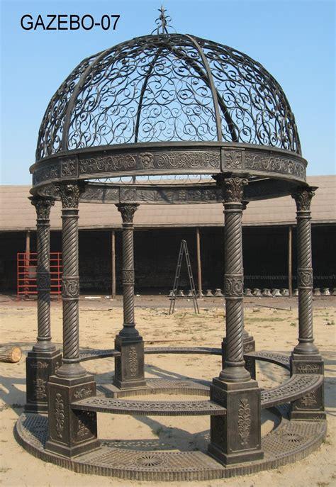 china supplier greenhouse garden cast iron gazebo 6