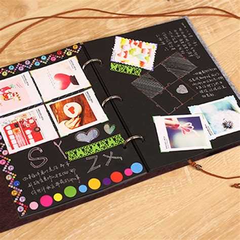 Handmade Cd Covers - felt cover photo album 30 black sheets scrapbook album diy