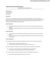 Service Coordinator Resume by Career Services Coordinator Sle Resume