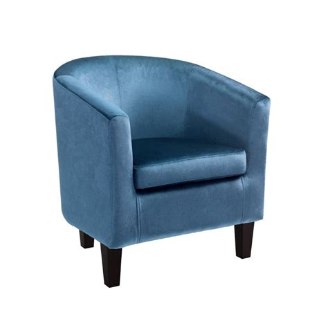 blue barrel chair barrel chair in blue velvet lad 728 c
