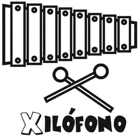 dibujos para colorear xilofono dibujo para pintar de un xil 243 fono dibujos para colorear