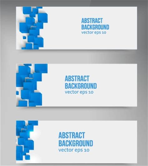 square banner template abstract blue square banner vector 02 millions