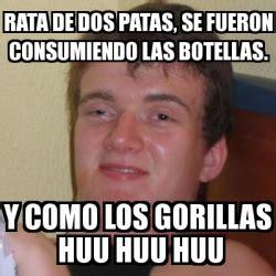 Rata De Dos Patas Meme - meme stoner stanley rata de dos patas se fueron