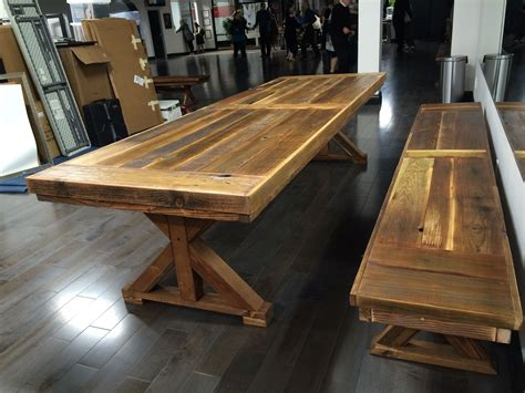 Reclaimed Wood Conference Table Crafted Reclaimed Wood Conference Communal Table Any Size By Mining Company