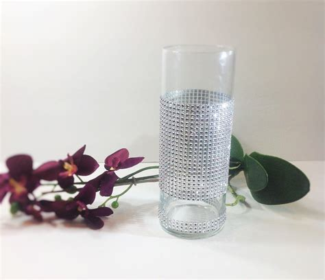tall cylinder glass vases pillar candle holder crystal