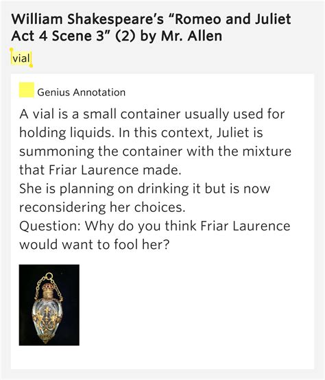 themes in romeo and juliet act 4 scene 3 vial william shakespeare s romeo and juliet act 4 scene