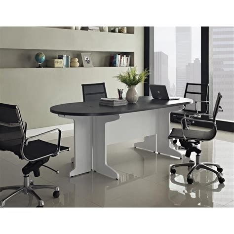 Small Office Meeting Table Small Conference Table In White And Gray 9349296