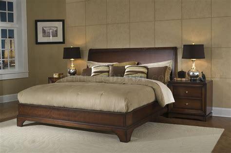 antique walnut finish contemporary massive wood bed