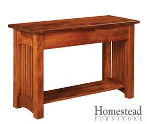 classic mission sofa table homestead furniture