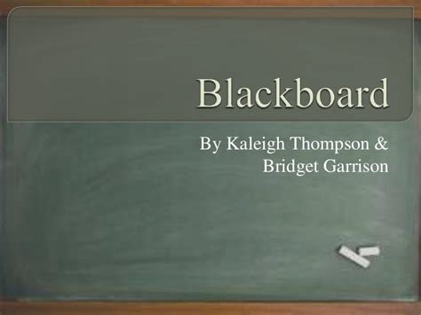 Blackboard Powerpoint Blackboard Powerpoint Template