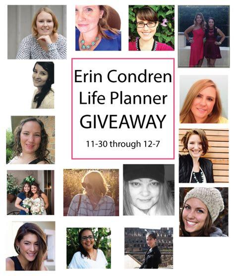 Erin Condren Giveaway - erin condren planner giveaway 187 kid congeniality