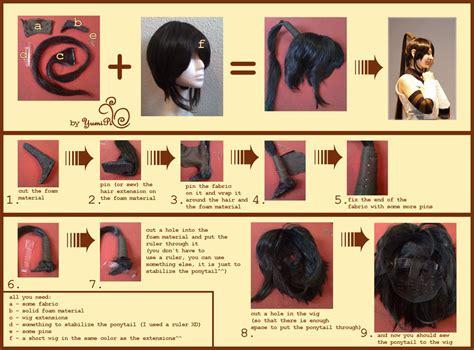 tutorial wig tsubaki ponytail tutorial by yumipi on deviantart