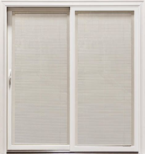 Mastercraft Patio Doors Mastercraft Lt 8 Aluminum Clad Sliding Patio Door W Low E Blinds Glass At Menards 174