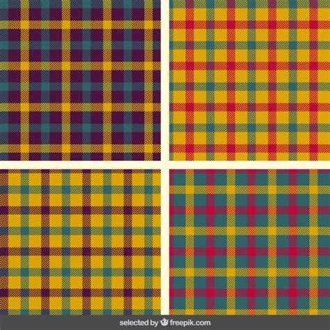 tartan pattern colorful tartan patterns collection vector free