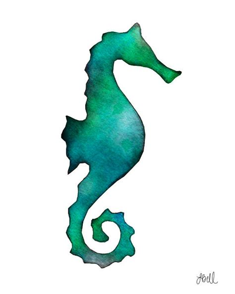 seahorse painting by laura bell