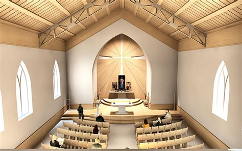 Here Is A Sketch Offer For A Catholic Church Interior Catholic Church Interior Design