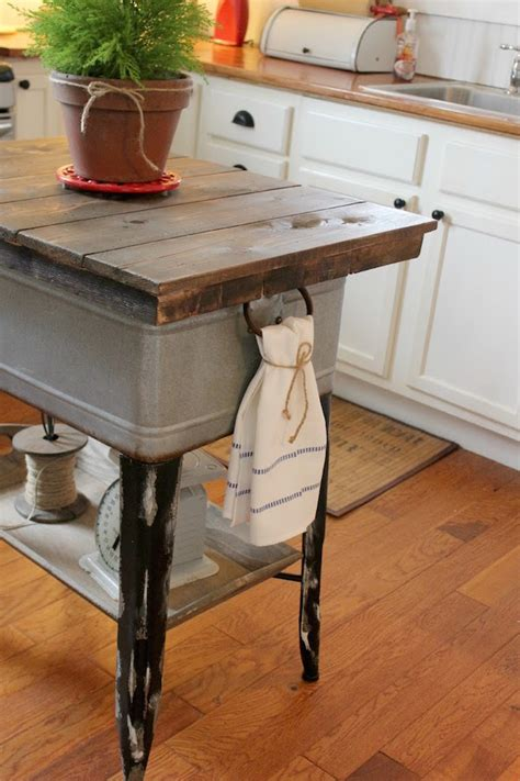 kitchen island ideas decorating and diy projects vintage inspiration party 178 wash tub islands wooden
