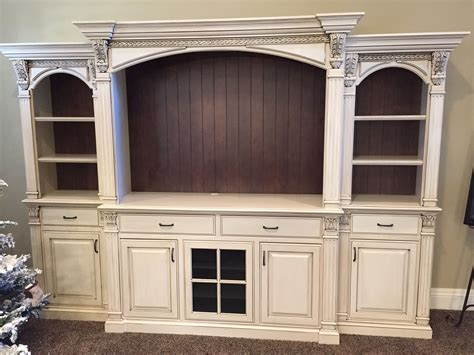 white entertainment center antiqued white entertainment center with bead brown backs