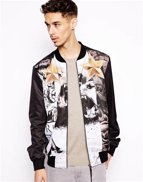 Bomber Black White White Atasan Jaket Bomber religion bomber jacket with print where to buy how to wear
