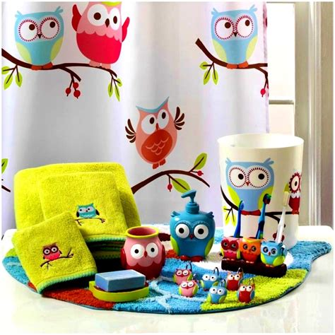 kids owl bathroom decor the benefits of using kids bathroom accessories sets