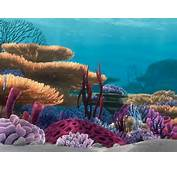 Finding Nemo Coral Reef Aquarium Background Wall Murals