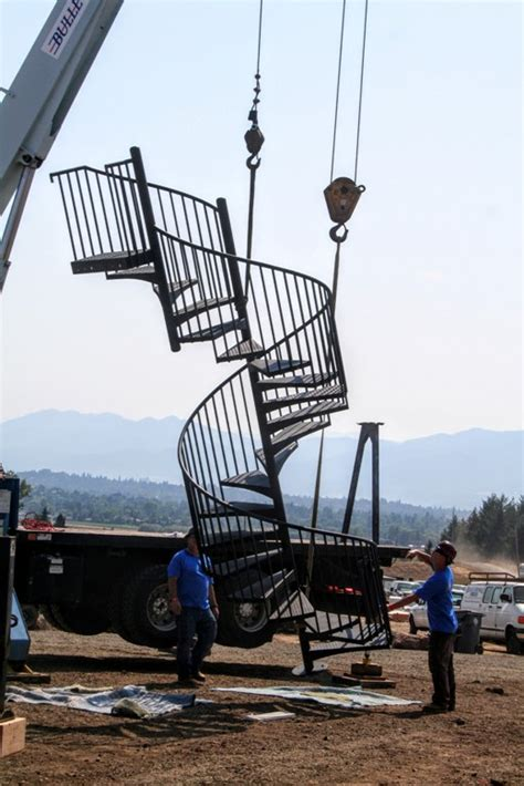 spiral railing and structural steel for makeover