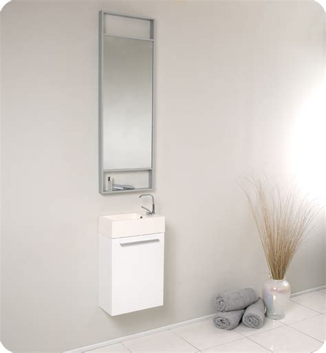 Fresca Pulito Small White Modern Bathroom Vanity Soft Small White Bathroom Vanity