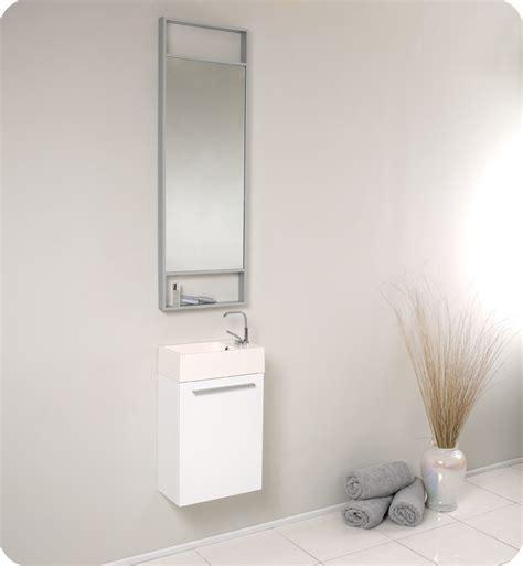 fresca pulito small white modern bathroom vanity soft