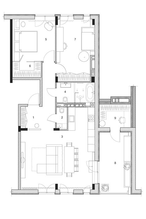 floor layout plans two modern homes with rooms for small children with floor