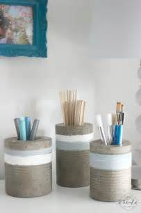 Concrete Diy by Diy Concrete Vases From Tin Cans Love Create Celebrate