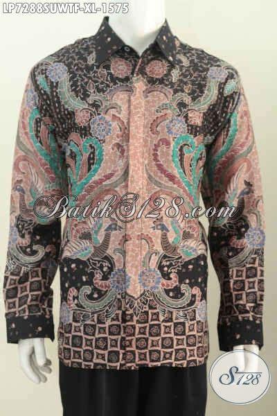 Hem Clasic Twis Atasan Baju Wanita model baju batik mewah untuk pria kemeja batik bahan twis halus motif tulis asli lengan