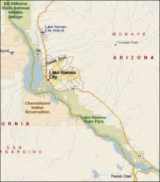 arizona map lake havasu lake havasu az fishing info map
