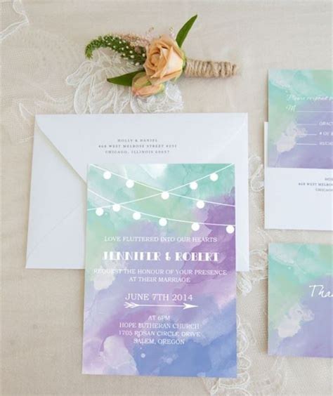 purple and green wedding invitations 23 pretty watercolor wedding invitations to get inspired weddingomania