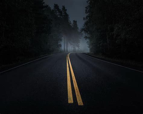 wallpaper dark road 1280x1024 dark road forest night mood desktop pc and mac